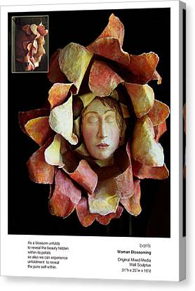 Woman Blossoming Canvas Print by Beverly Barris