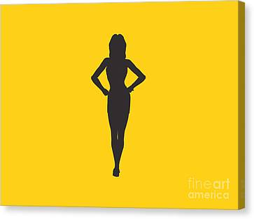 Woman Graphic Canvas Print by Pixel Chimp