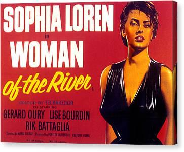 Woman Of The River, Aka La Donna Del Canvas Print by Everett