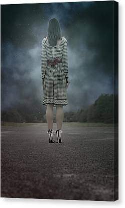 Woman On Street Canvas Print by Joana Kruse