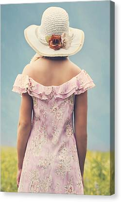 Woman With Hat Canvas Print by Joana Kruse