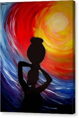 Woman With Pitcher Canvas Print by Shakhenabat Kasana