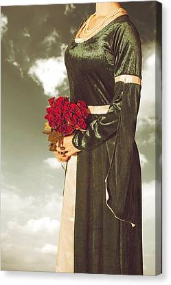 Woman With Roses Canvas Print by Joana Kruse