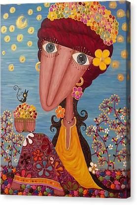 Woman#1 Canvas Print by Suwannee Wannasopha