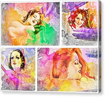Woman's Soul Canvas Print by Mo T