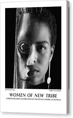 Women Of A New Tribe - Kim With Mask Canvas Print by Jerry Taliaferro