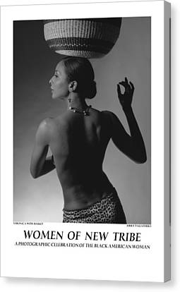 Women Of A New Tribe - Veronica With Basket Canvas Print by Jerry Taliaferro