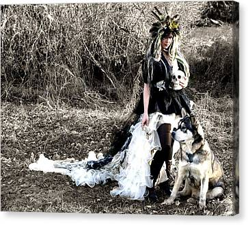 Women Who Run With Wolves Canvas Print by Nyla Alisia