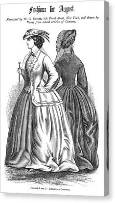 Womens Fashion, 1862 Canvas Print by Granger