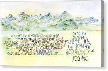 Wonder Splendor II Canvas Print by Judy Dodds