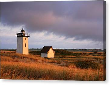 Wood End Lighthouse Landscape Canvas Print by Roupen  Baker
