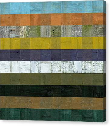 Wooden Abstract L Canvas Print by Michelle Calkins