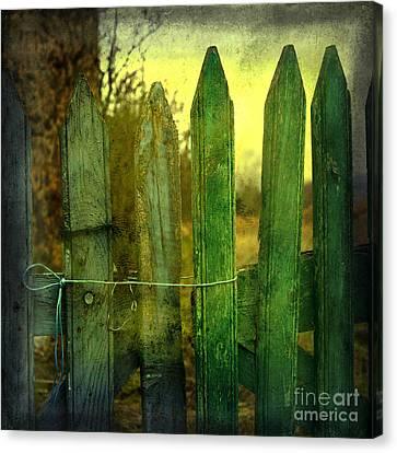 Wooden Barrier Canvas Print by Bernard Jaubert