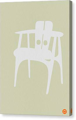 Wooden Chair Canvas Print by Naxart Studio