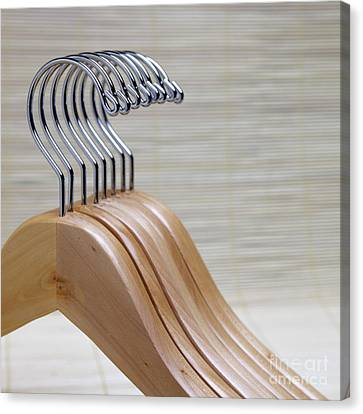 Wooden Clothes Hangers Canvas Print by Skip Nall