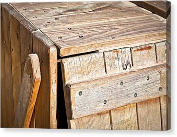Wooden Crate Canvas Print by Tom Gowanlock