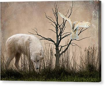 Woodland Wolf Canvas Print by Sharon Lisa Clarke
