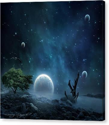 World Beyond Canvas Print by Lourry Legarde