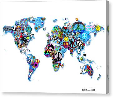 World Peace Canvas Print by Bill Cannon