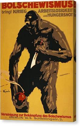 World War I, Bolshevism, German Poster Canvas Print by Everett