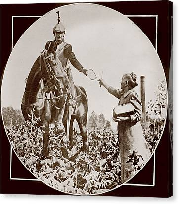 World War I, Bread For A French Soldier Canvas Print by Everett