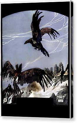 World War I, Italian Eagle Attacking Canvas Print by Everett