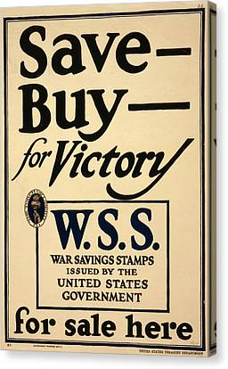 World War I, Poster - Save - Buy - Canvas Print by Everett