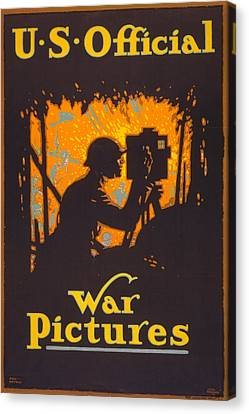 World War I, Poster Showing A War Canvas Print by Everett