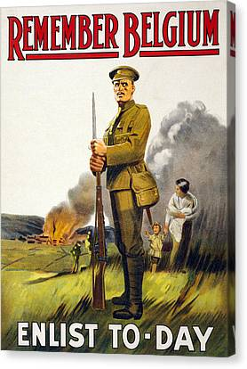 World War I, Recruitment Poster Poster Canvas Print by Everett