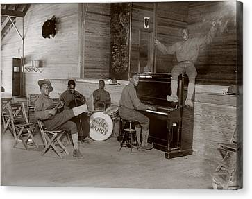 World War I, U.s. Army Jazz Band, Circa Canvas Print by Everett