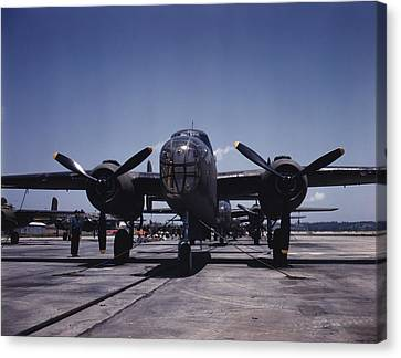 World War II, B-25 Bomber Planes Canvas Print by Everett