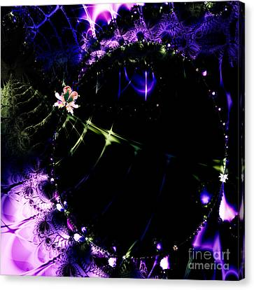 Wormhole Beyond . Square . S4a.s10 Canvas Print by Wingsdomain Art and Photography