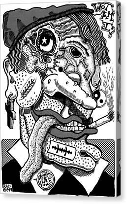 Wot Am I Canvas Print by Ralf Schulze
