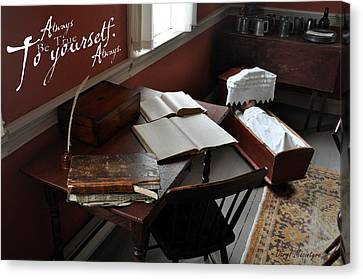 Writers Desk Canvas Print by Daryl Macintyre