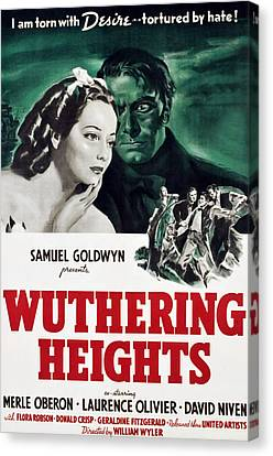 Wuthering Heights, Merle Oberon Canvas Print by Everett