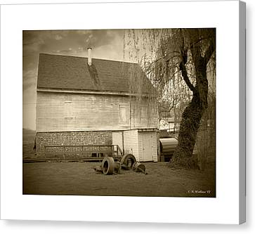 Wye Mill - Sepia Canvas Print by Brian Wallace