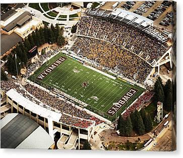 Wyoming War Memorial Stadium Canvas Print by University of Wyoming