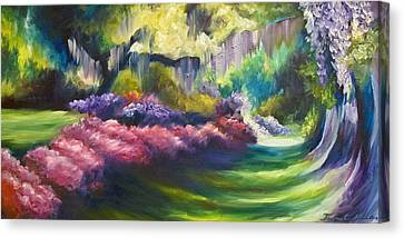 Wysteria Lane Canvas Print by James Christopher Hill