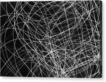 Xmas Lights - 2 Canvas Print by Kevin Woolgar