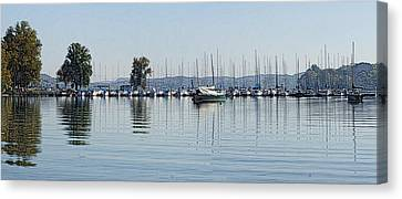 Yacht Club Canvas Print by Bill Kennedy