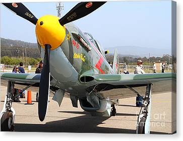 Yak 9u Airplane . 7d15807 Canvas Print by Wingsdomain Art and Photography
