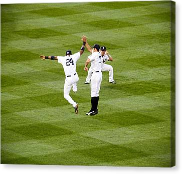 Yankee High Five Canvas Print by Christopher McPhail