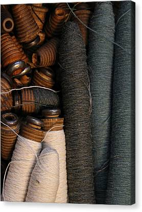 Yarn And Bobbins Canvas Print by Odd Jeppesen