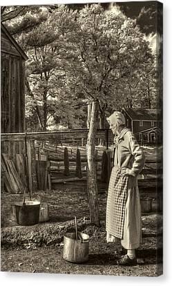 Yarn Dyeing Canvas Print by Joann Vitali