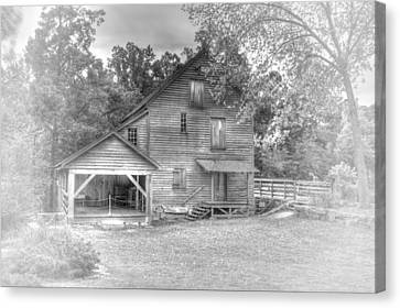 Yates Mill Black And White Canvas Print by Joe Granita