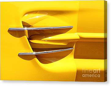 Yellow And Chrome Canvas Print by Dennis Hedberg