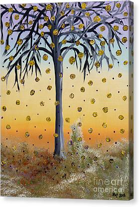 Yellow-blossomed Wishing Tree Canvas Print by Alys Caviness-Gober