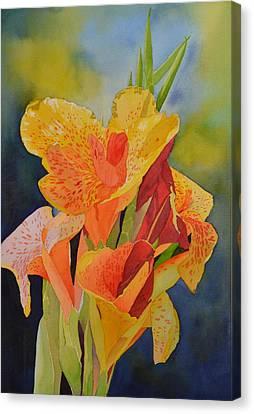 Yellow Canna Canvas Print by Cynthia Sexton