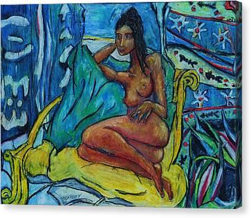 Yellow Chair 98 Canvas Print by Bradley Bishko