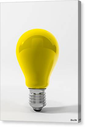 Yellow Lamp Canvas Print by BaloOm Studios
